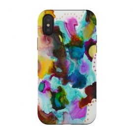 iPhone X  Alcohol ink 4 by Haris Kavalla