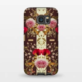 Galaxy S7  Faded Lush by Zala Farah (symmetry,floral,flowers,nature,art,print,pattern,flower power,floral print,nature art,symmetrical flowers,abstract,abstract flowers,cute,girly,garden)