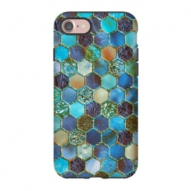 iPhone 8/7  Multicolor Blue Metal Honeycomb Pattern by Utart