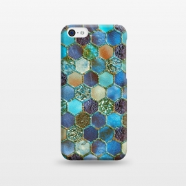 iPhone 5C  Multicolor Blue Metal Honeycomb Pattern by Utart