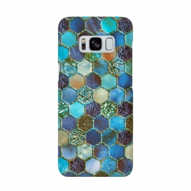 Multicolor Blue Metal Honeycomb Pattern by Utart