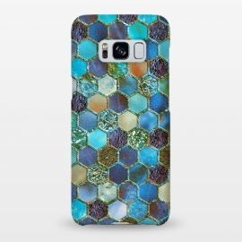 Galaxy S8+  Multicolor Blue Metal Honeycomb Pattern by Utart