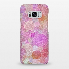 Galaxy S8+  Pink Metal Circles Dots Pattern by Utart