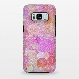 Galaxy S8 plus  Pink Metal Circles Dots Pattern by