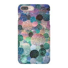 iPhone 8/7 plus  Multicolor Trendy Dots and Circles  by Utart