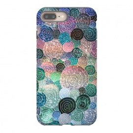 iPhone 8/7 plus  Multicolor Trendy Dots and Circles  by Utart (glitter, rose, gold, texture, sparkle, shiny, pink, luxury, shine, glow, metallic, valentine, glamour, love, wedding, glowing, bokeh, effect, metal, blur, brilliant, twinkle, valentines day, elegant, fashion, gleam, gloss, brilliance, rose gold, romantic, shimmer, flare, glossy, sparks, glisten,blue)