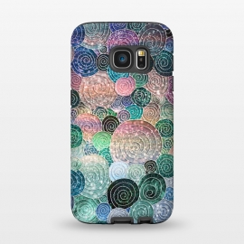 Galaxy S7  Multicolor Trendy Dots and Circles  by Utart