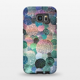 Galaxy S7 EDGE  Multicolor Trendy Dots and Circles  by Utart