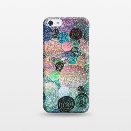iPhone 5C  Multicolor Trendy Dots and Circles  by Utart