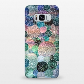 Galaxy S8+  Multicolor Trendy Dots and Circles  by Utart