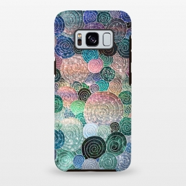 Galaxy S8 plus  Multicolor Trendy Dots and Circles  by