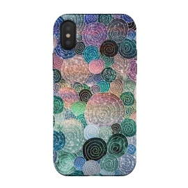 iPhone Xs / X  Multicolor Trendy Dots and Circles  by