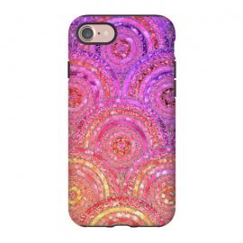 iPhone 8/7  Multicolor Pink Gold Circles  by Utart