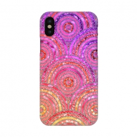 iPhone X  Multicolor Pink Gold Circles  by Utart