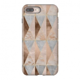 iPhone 8/7 plus  Modern Marble Geode Copper Triangle Argyle by Utart
