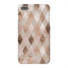 Abstract Trendy Copper Concrete Argyle Pattern by Utart