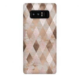 Galaxy Note 8  Abstract Trendy Copper Concrete Argyle Pattern by
