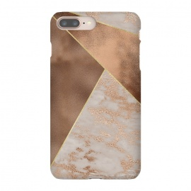 Modern minimalistic Copper Marble Triangles  by Utart