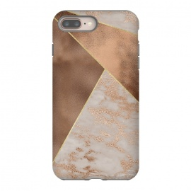 iPhone 8/7 plus  Modern minimalistic Copper Marble Triangles  by Utart