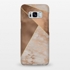 Galaxy S8+  Modern minimalistic Copper Marble Triangles  by Utart