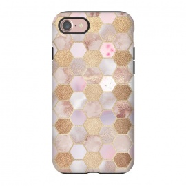 iPhone 8/7  Rose Gold Copper Honeycomb Pattern by Utart