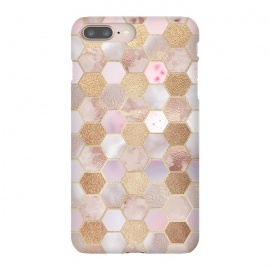 iPhone 8/7 plus  Rose Gold Copper Honeycomb Pattern by