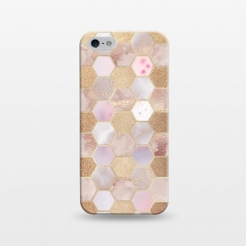 iPhone 5/5E/5s  Rose Gold Copper Honeycomb Pattern by Utart