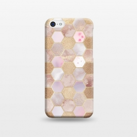 iPhone 5C  Rose Gold Copper Honeycomb Pattern by Utart