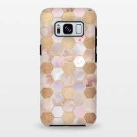 Galaxy S8+  Rose Gold Copper Honeycomb Pattern by Utart
