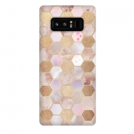 Galaxy Note 8  Rose Gold Copper Honeycomb Pattern by Utart