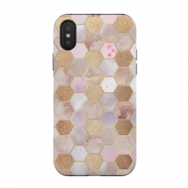 Rose Gold Copper Honeycomb Pattern by Utart