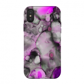 iPhone Xs / X  Alcohol ink 10 by Haris Kavalla (alcohol ink,alcohol inks,inks,modern,artistic,purple,ultra violet,pantone2018,violet,painting,haroulita)