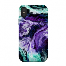 iPhone Xs / X  wavy marble ii by Haris Kavalla (wavy,marble,waves,sky,sea,unique marble,modern marble,purple marble,teal marble,haroulita,turquoise marble,artistic)
