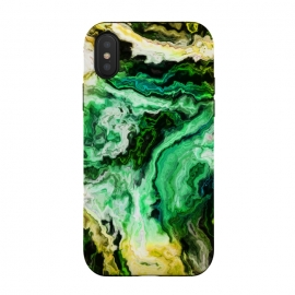 iPhone Xs / X  wavy marble iii by Haris Kavalla (green marble,yellow marble,marble,haroulita,unique marble,modern marble,waves)