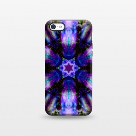 iPhone 5C  Ultra violet ink mandala by Haris Kavalla