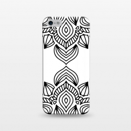 iPhone 5/5E/5s  black and white mandala by Haris Kavalla