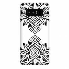Galaxy Note 8  black and white mandala by Haris Kavalla