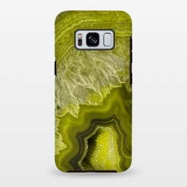 Galaxy S8+  Green Agate Geode by Utart