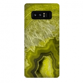 Galaxy Note 8  Green Agate Geode by Utart