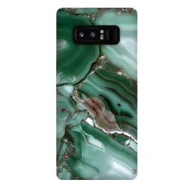 Galaxy Note 8  Green Malachite Agate by Utart