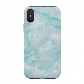 iPhone X  Light Blue Veined Agate by Utart