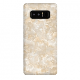 Galaxy Note 8  Creme Mother of Pearl Texture by
