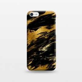 iPhone 5C  Black and Gold Marble by Utart