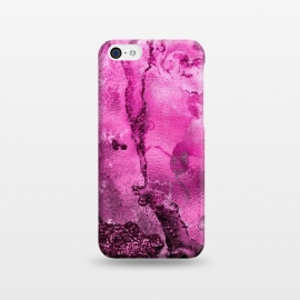 iPhone 5C  Purple and Pink Glittering Ink Marble by Utart