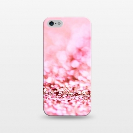 iPhone 5/5E/5s  Rose Gold Sparkle Faux Glitter by Utart