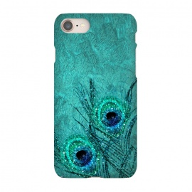 iPhone 8/7  Peacock Sparkle Feathers by Utart