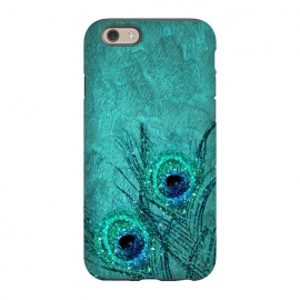 iPhone 6/6s  Peacock Sparkle Feathers by Utart