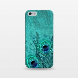 iPhone 5/5E/5s  Peacock Sparkle Feathers by Utart