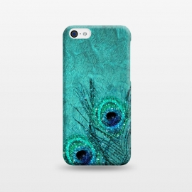 iPhone 5C  Peacock Sparkle Feathers by Utart