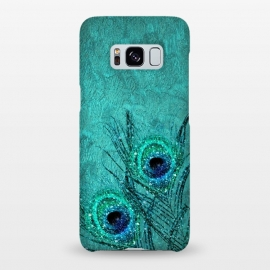 Galaxy S8+  Peacock Sparkle Feathers by Utart